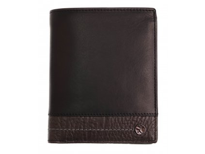 Pánská kožená peněženka Segali 951.320.2553 Black/Grey