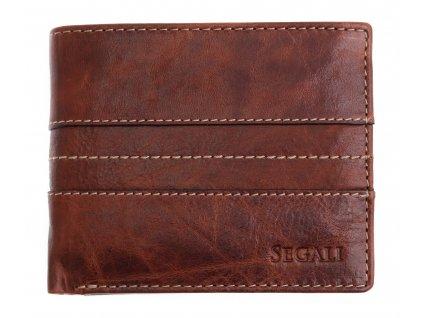 Pánská kožená peněženka Segali 3984 Tan hnědá