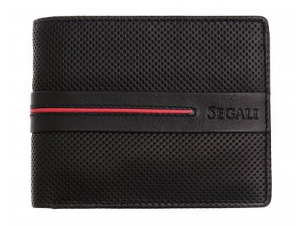 Pánská kožená peněženka Segali 2783 černá/červená
