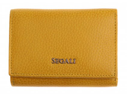 Dámská kožená peněženka Segali SG 7106 B žlutá