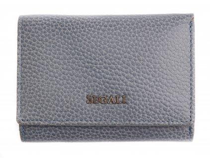 Dámská kožená peněženka Segali SG 7106 B modrá