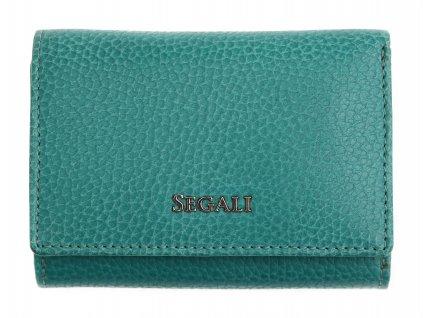 Dámská kožená peněženka Segali SG 7106 B zelená
