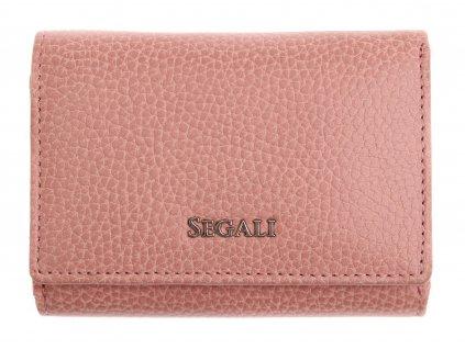 Dámská kožená peněženka Segali SG 7106 B růžová