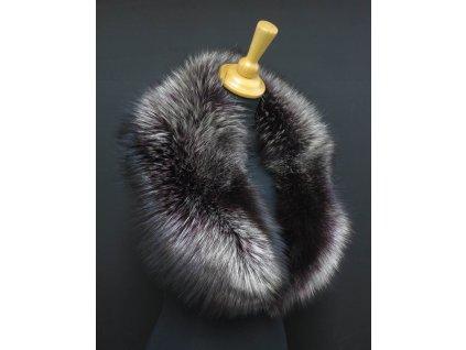 Kožešinový límec ze stříbrné lišky LS269 Silver/Purple