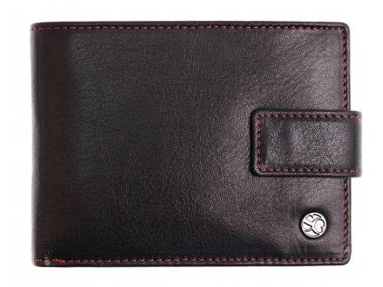Pánská kožená peněženka Segali 907.114.2007 C černá + červená