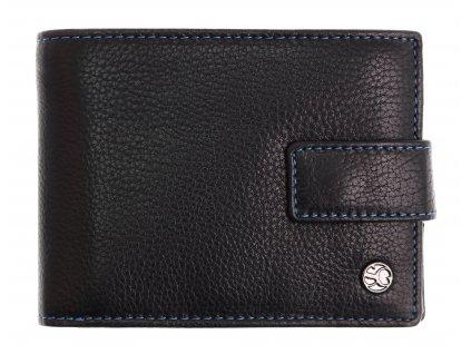Pánská kožená peněženka Segali 907.114.2007 C černá + modrá