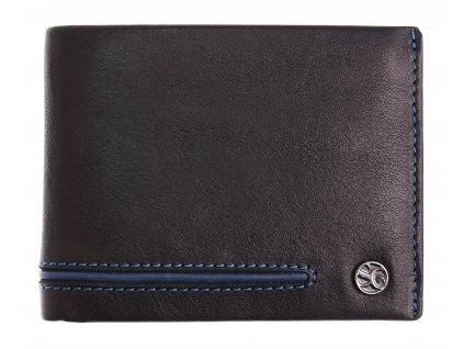Pánská kožená peněženka Segali 753.115.026 černá + modrá