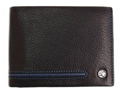 Pánská kožená peněženka Segali 753.115.2007 černá + modrá