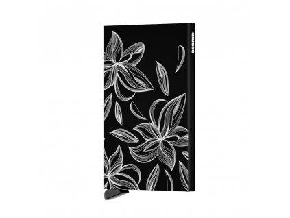 Pouzdro na karty Cardprotector SECRID Laser Magnolia Black černé s květinami