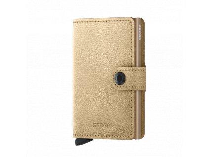 Kožená peněženka SECRID Miniwallet Antique Gold zlatá