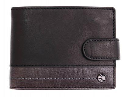 Pánská kožená peněženka Segali 951.320.005 LZ černá + šedá