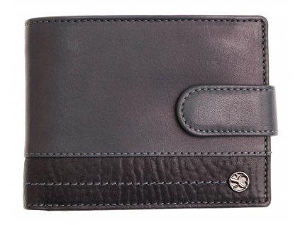 Pánská kožená peněženka Segali 951.320.005 LZ světle modrá + černá modrý vnitř