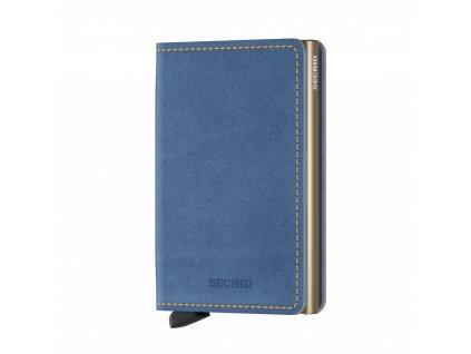 Kožená peněženka SECRID Slimwallet Indigo Sand světle modrá džínová