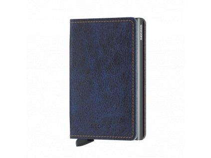 Kožená peněženka SECRID Slimwallet Indigo Titanium tmavě modrá džínová