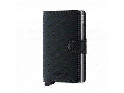 Kožená peněženka SECRID Miniwallet Optical Black Titanium černá