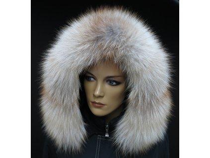 Kožešinový lem na kapuci z goldplatinové lišky - 7041
