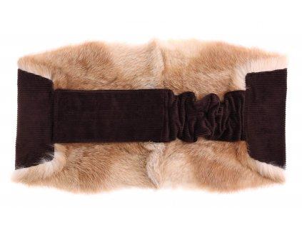 Ledvinový pás kožešinový LP179 velikost M králík