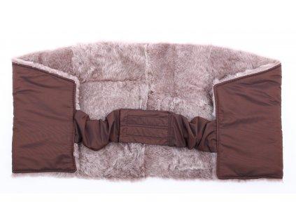 Ledvinový pás kožešinový LP128 velikost 100 - 120 cm ovčina