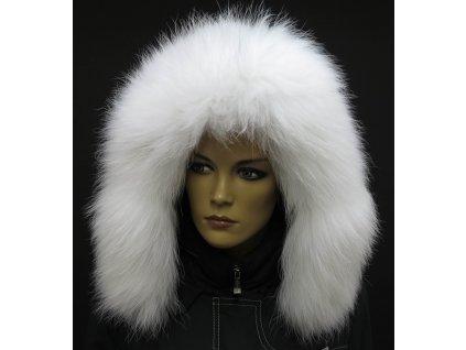 Kožešinový lem / límec na kapuci z finského mývalovce - 4012 White Excellence