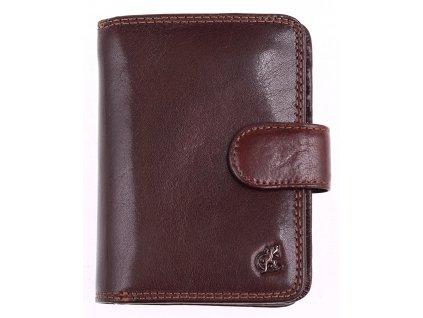 Dámská kožená peněženka Cosset 4494 Komodo hnědá z kvalitní hověziny