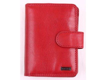 Dámská kožená peněženka Cosset 4494 Red Flamengo VÝPRODEJ SLEVA DROBNÝ KAZ V LAKU