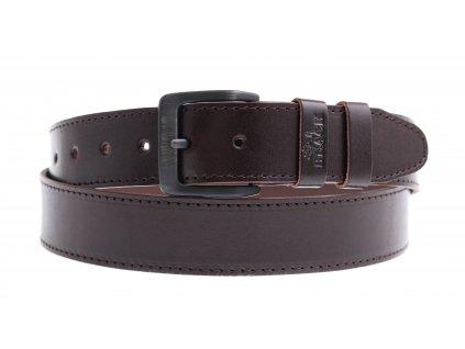 Pánský kožený opasek Black Hand 006-93 hnědý