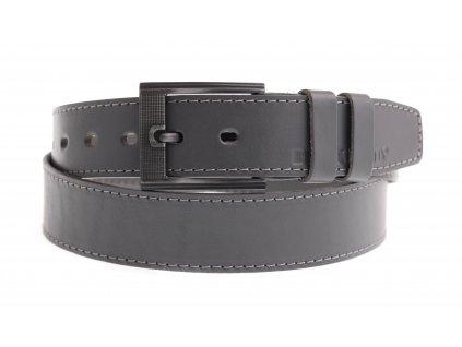 Pánský kožený opasek Black Hand 128-86 šedý