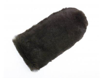 Kožešinové masážní rukavice z králičí kožešiny MAR29 bezprstá