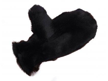 Kožešinové masážní rukavice z králičí kožešiny MAR35 bezprstá