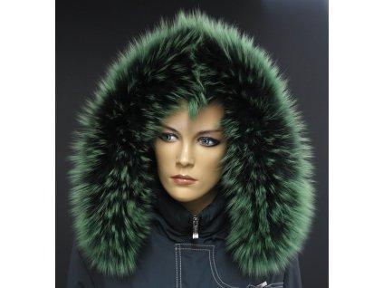 Kožešinový lem na kapuci z finského mývalovce 10202 Green Grass