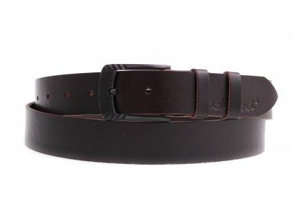 Dámský kožený opasek Black Hand 119-93 tmavě hnědý