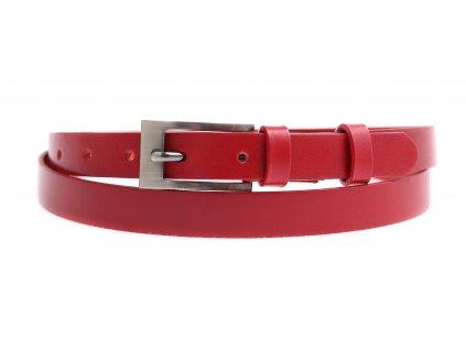 Dámský úzký kožený opasek Penny Belts 2054 červený