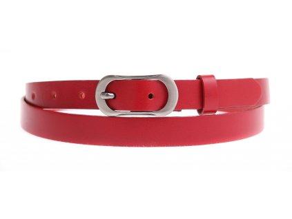 Dámský úzký kožený opasek Penny Belts 2057 červený