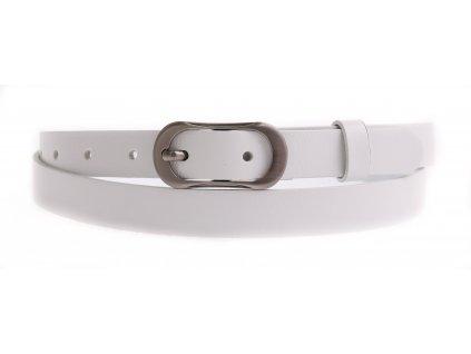 Dámský úzký kožený opasek Penny Belts 2058 bílý