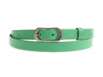 Dámský úzký kožený opasek Penny Belts 2059 zelený