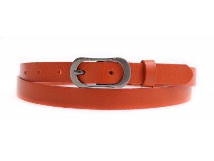 Dámský úzký kožený opasek Penny Belts 2062 oranžový