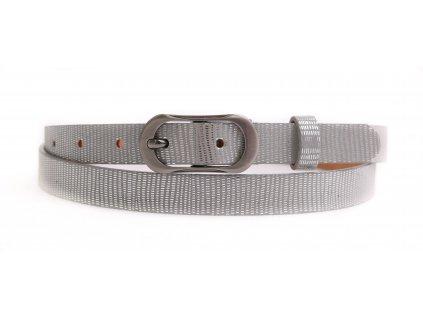 Dámský úzký kožený opasek Penny Belts 2064 stříbrný