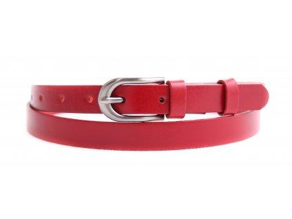 Dámský úzký kožený opasek Penny Belts 2069 červený