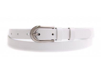 Dámský úzký kožený opasek Penny Belts 2071 bílý