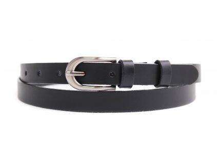 Dámský úzký kožený opasek Penny Belts 2072 černý