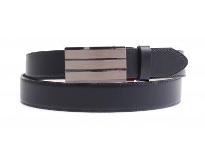 Pánský kožený opasek Penny Belts 3577 s plnou sponou AUTOMAT tmavě hnědý