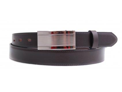 Pánský společenský kožený opasek Penny Belts 310 tmavě hnědý