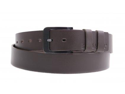 Pánský kožený opasek Black Hand 106-87 šedohnědý