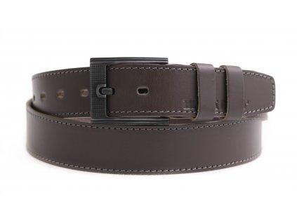Pánský kožený opasek Black Hand 128-87 šedohnědý - taupe