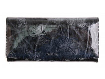 Velká dámská kožená peněženka Carmelo 2109 M černá