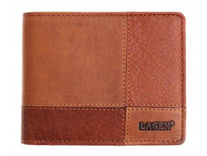 Pánská kožená peněženka Lagen 2108V hnědá