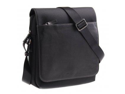 Pánská taška přes rameno Hexagona 296179 černá kůže + nylon