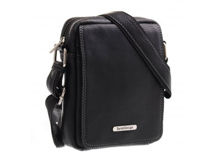 Pánská kožená taška přes rameno Sendi Design SD 52006 černá