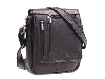 Pánská kožená taška přes rameno Sendi Design M 702 černá