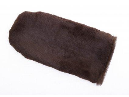 Kožešinová masážní rukavice z králičí kožešiny MAR45 tmavě hnědéKožešinová masážní rukavice z králičí kožešiny MAR45 tmavě hnědé